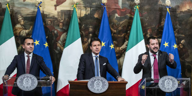 Luigi Di Maio,Giuseppe Conte e Matteo Salvini