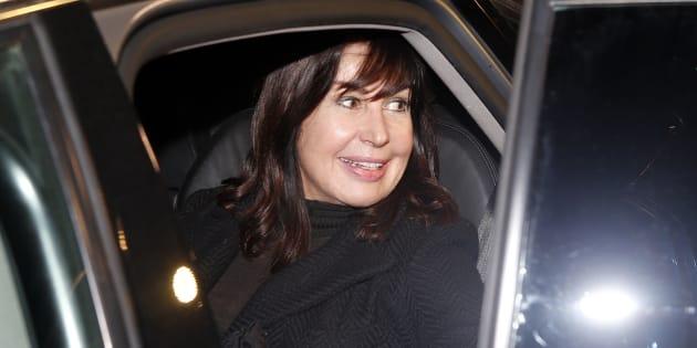 Carmen Martínez Bordiú, fotografiada durante el funeral de Carmen Franco en Madrid el 11 de enero de 2018.