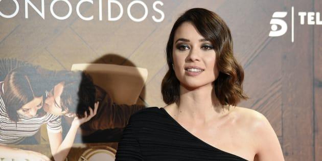 La actriz Dafne Fernández durante el estreno de 'Perfectos Desconocidos'