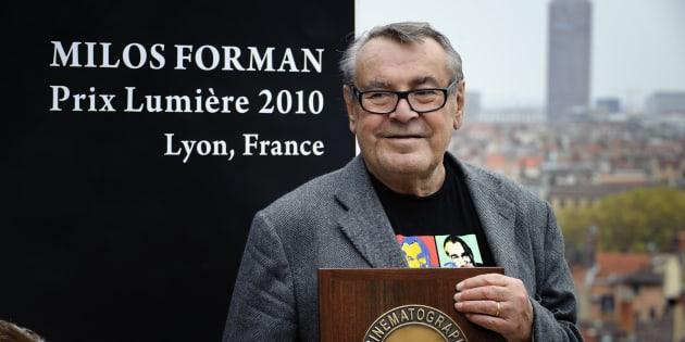 Milos Forman, director de origen checo, en una entrega de premios en Francia en 2010.