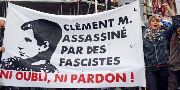 Une manifestation en hommage à Clément Méric à Toulouse, en 2013