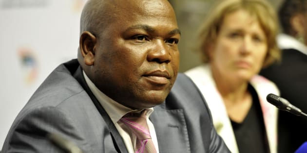 Mxolisi Nxasana during a media briefing on the annual performance of the NPA on October 21, 2014 in Cape Town.