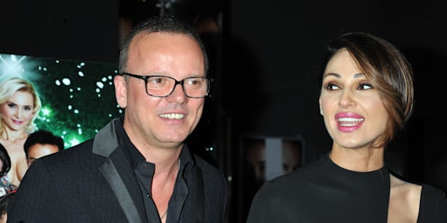 ROME, ITALY - DECEMBER 01: Anna Tatangelo and Gigi D'Alessio attend 'Un Natale Al Sud' Red Carpet In Rome  on December 1, 2016 in Rome, Italy. (Photo by Camilla Morandi - Corbis/Corbis via Getty Images)