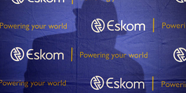 JOHANNESBURG, SOUTH AFRICA  JANUARY 30:(SOUTH AFRICA OUT): Eskom chairman Jabu Mabuza, CEO Phakamani Hadebe and acting Financial Officer Calib Cassim during the interim results announcement at Megawatt Park on January 30, 2018 in Johannesburg, South Africa. Hadebe alleged that increased levels of irregular expenditure at the power utility are a consequence of poor leadership. (Photo by Felix Dlangamandla/Foto24/Gallo mages/Getty Images)