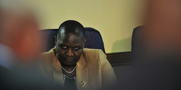 Suspended National Police Commissioner; Riah Phiyega during the Claassen Commission of Inquiry on June 01, 2016 in Pretoria, South Africa. During the inquiry into her fitness to hold office, Phiyega was told her decision not to testify or call witness in her defence will come back to haunt her.