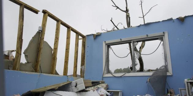 Une tornade a frappé le secteur Mont-Bleu de Gatineau le 21 septembre 2018, faisant plusieurs sinistrés.