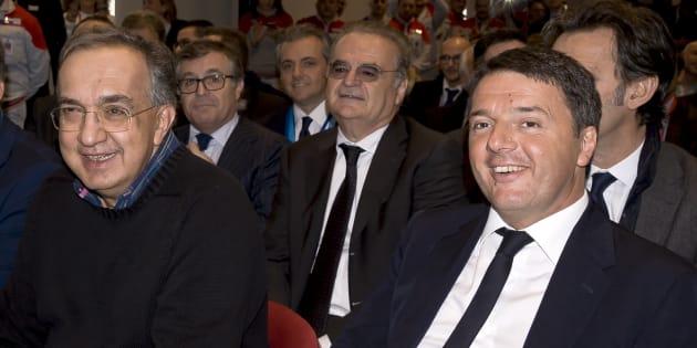 """Renzi parla di Marchionne. """"Un gigante, ha cambiato la"""