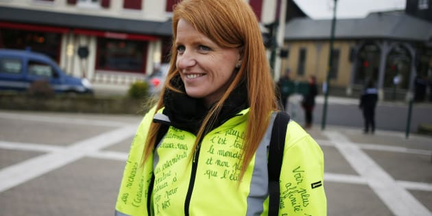 IngridLevavasseur, ici le 15 janvier à Grand Bourgtheroulde, dans l'Eure, vise désormais les municipales.