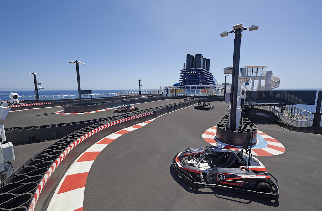 These cruise ships have giant go-kart race tracks on board - AOL