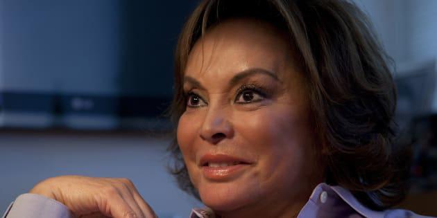 13 de julio de 2011. Elba Esther Gordillo, entonces lideresa magisterial, durante una entrevista