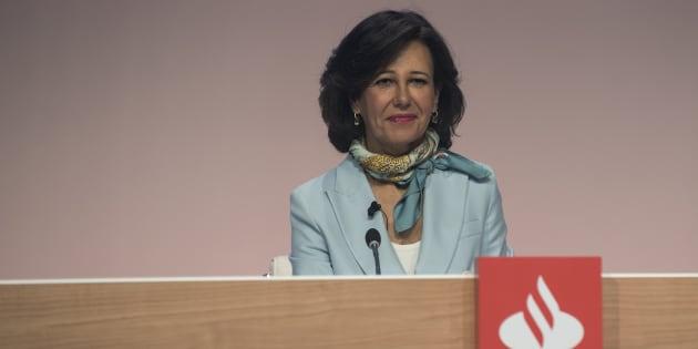 La presidenta del Banco Santander, Ana Botín, en la última junta de accionistas.