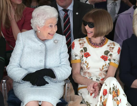 The Queen makes first-ever front row appearance