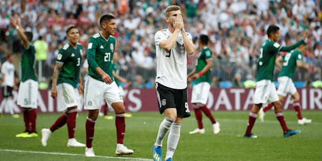 Soccer Football - World Cup - Group F - Germany vs Mexico - Luzhniki Stadium, Moscow, Russia - June 17, 2018   Germany's Timo Werner reacts after a missed chance to score   REUTERS/Carl Recine