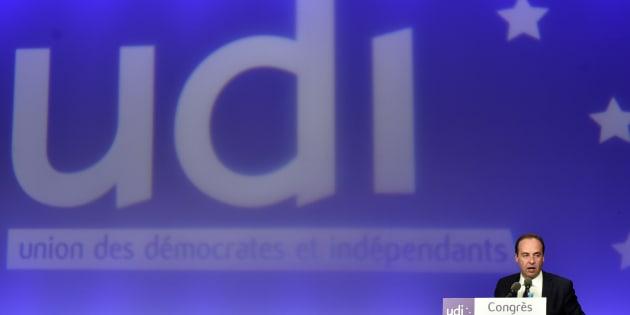 Jean-Christophe Lagarde, Président de l'UDI, lors du congrès du parti à Versailles, le 20 mars 2016.