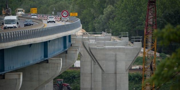 Un double viaduc autoroutier en construction près de Langeais, en Indre-et-Loire, le 12 juillet 2018 (photo d'illustration)