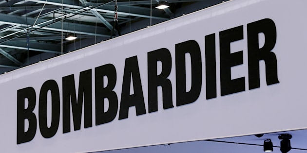 A Bombardier logo is pictured on the company booth during the European Business Aviation Convention & Exhibition (EBACE) at Cointrin airport in Geneva, Switzerland, May 24, 2016.  Bombardier says it's been shut out of a US$3.2-billion contract to supply subway cars in New York City because of past delivery delays.