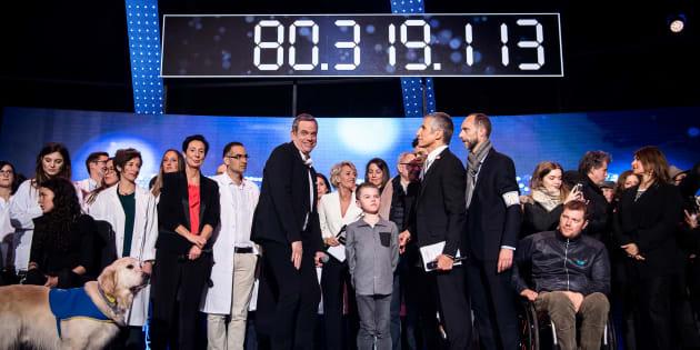 80 millions d'euros récoltés par le Téléthon 2016.