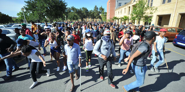 Violence Erupts Between Private Security And Students At