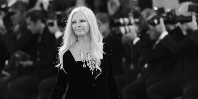 VENICE, ITALY - SEPTEMBER 04:  (EDITORS NOTE. This image has been converted in black and white) Patty Pravo attends the Kineo Diamanti Award Ceremony during the 73rd Venice Film Festival on September 4, 2016 in Venice, Italy.  (Photo by Vittorio Zunino Celotto/Getty Images)
