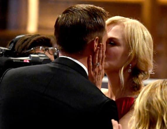 Nicole Kidman awkwardly addresses Emmys kiss