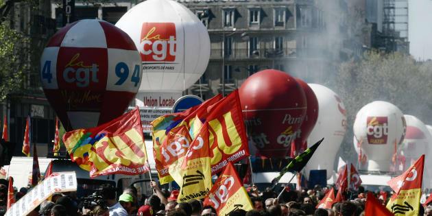 """Grève du 9 octobre 2018: les syndicats appellent à manifester contre le gouvernement, la SNCF prévoit un """"impact quasi-nul"""" (Image d'illustration: manifestation du 19 avril)"""