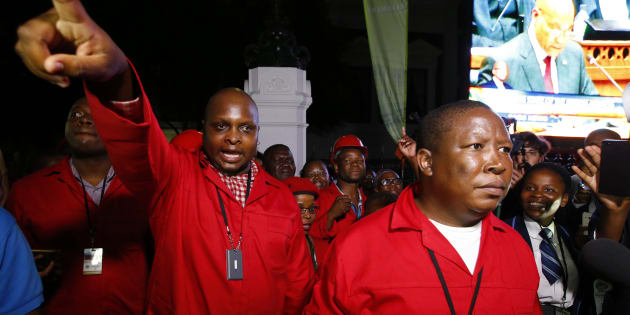 The EFF held its central command team meeting in Braamfontein, Johannesburg were its leader Julius Malema delivered his political report.