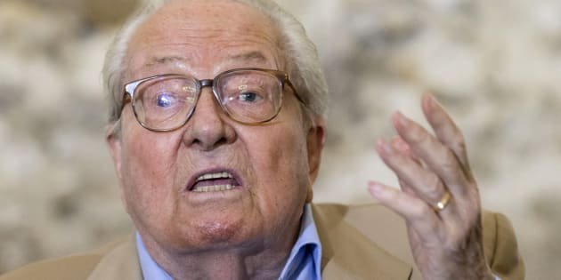 Jean-Marie Le Pen en conférence de presse le 28 septembre 2016.