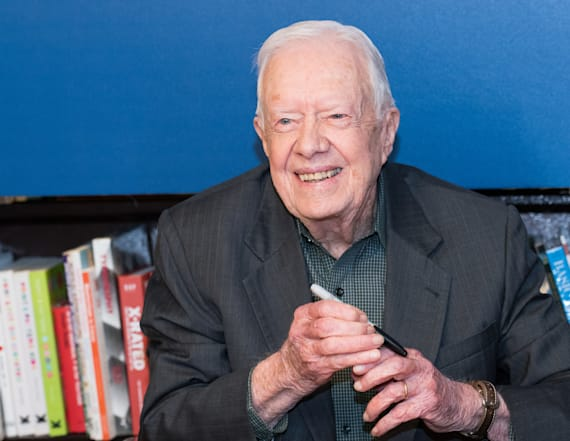 Jimmy Carter pokes fun at Trump with crowd size quip