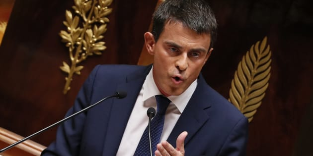 Manuel Valls s'exprimant à l'Assemblée nationale