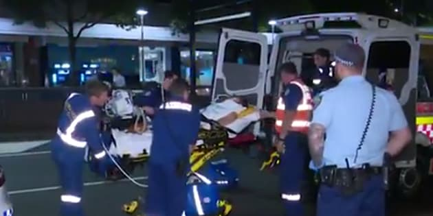 A wedding guest has suffered a horror fall in Sydney.