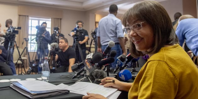 Patricia de Lille addresses the media after her ousting as Cape Town mayor by the DA on May 08 2018 in Cape Town. The party's actions have now been ruled invalid by the High Court in Cape Town.