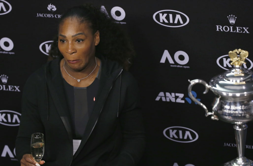 April 26 (Reuters) - Serena Williams had no intention of sharing her  pregnancy with the world last week but spilled the beans when she  accidentally uploaded ...