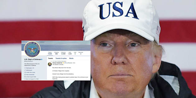 Quand Pentagone retweete un appel à la démission de Donald Trump