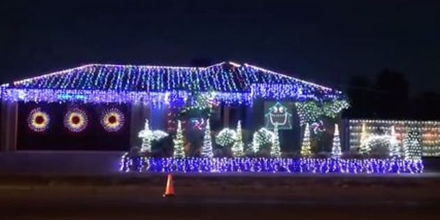 youll be thunderstruck by this acdc themed christmas lights display - Dc Christmas Lights