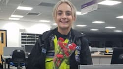 Police Officer Receives Thank You Flowers From Suicidal Man She Talked Down From