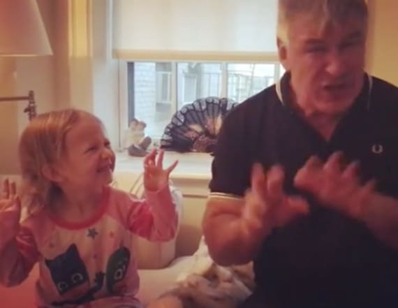 Alec Baldwin's daughter impersonates Trump, too!