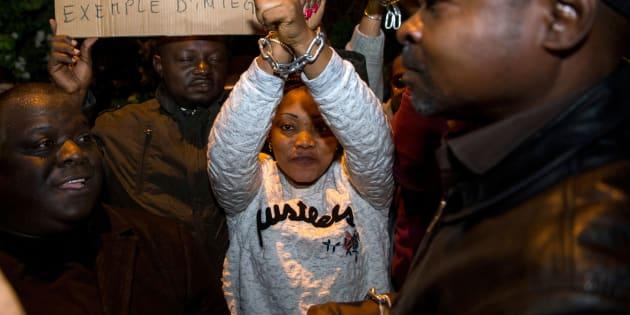 Une manifestation contre l'esclavage en Libye devant l'ambassade libyenne de Rabat, le 23 novembre.