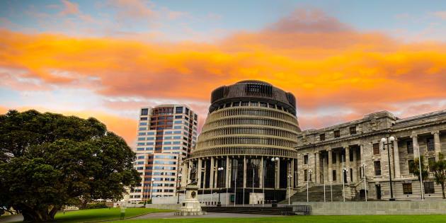 A sede do Parlamento neozelandês, em Wellington.