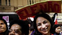 'Ele não, ele de jeito nenhum': As mulheres que vão para as ruas contra