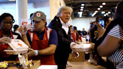 Donald Trump Visits Hurricane Harvey Survivors In