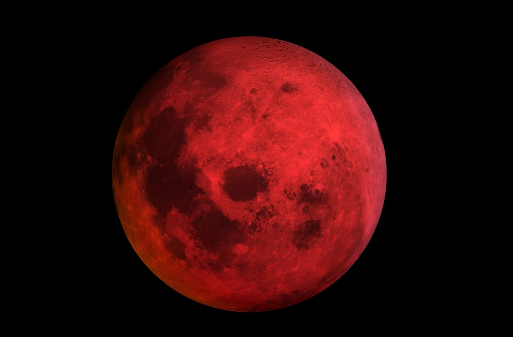 red moon 2018 today - photo #23