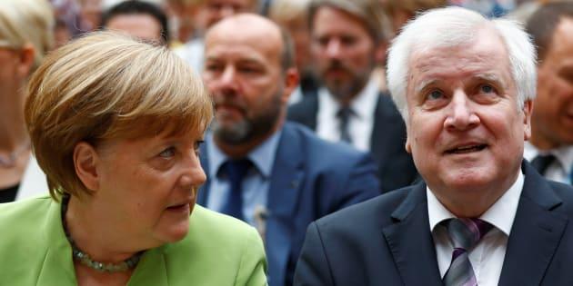Angela Merkel et Horst Seehofer à Berlin le 20 juin 2018.