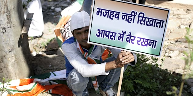 File photo from a protest against Dadri lynching.