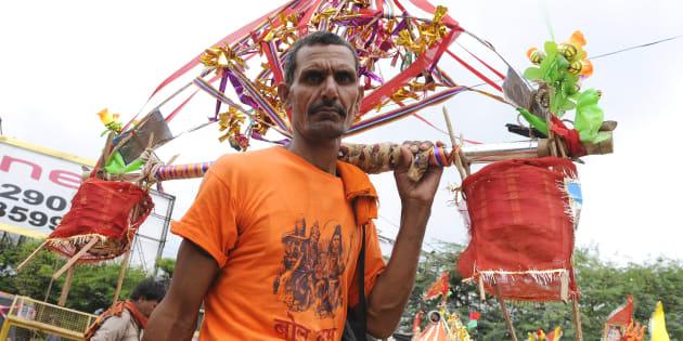 Kanwar Yatra is annual pilgrimage taken by devotees of Lord Shiva in month of Saawan.