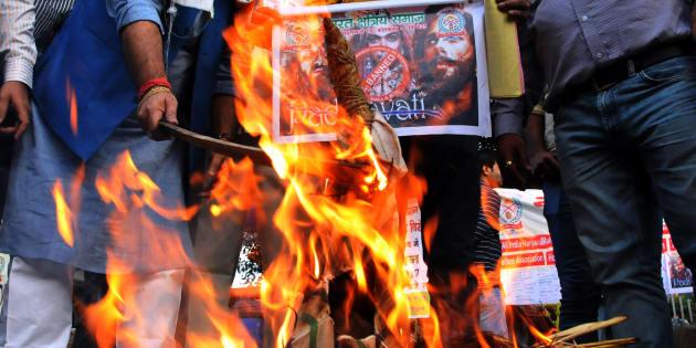 Akhil Bhartiya Shakti Samaj launched a signature campaign against the release of the upcoming Bollywood movie ' Padmavati' in Kolkata.