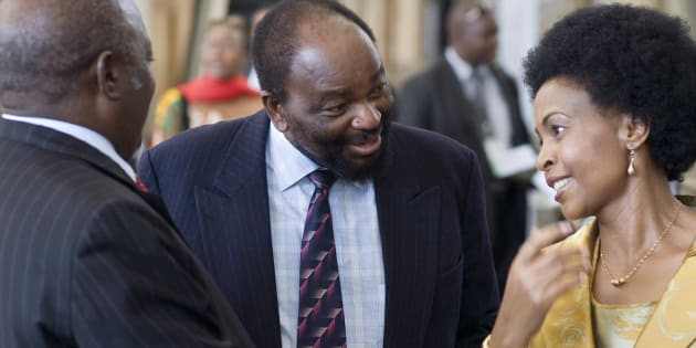 (L-R) Phandu Skelemani, Foreign Minister for Botswana, Simbarashe Mumbengegwi, Zimbabwean Foreign Minister, and Maite Nkoana-Mashabane, South African Foreign Minister (R) chat at the Southern African Development Community (SADC) Extraordinary Ministerial Meeting at Cape Town International Convention Centre on February 12, 2011, in Cape Town.