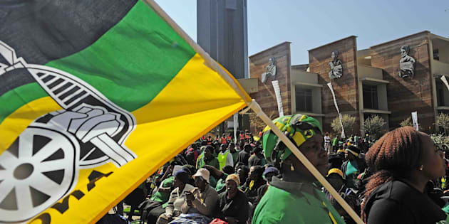 How long can this flag fly over a united ANC?