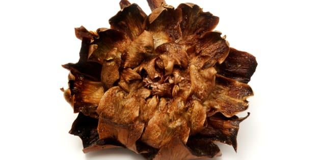 'Carciofi alla giudia (Jewish style artichokes), a traditional recipe of the roman jewish cuisine'