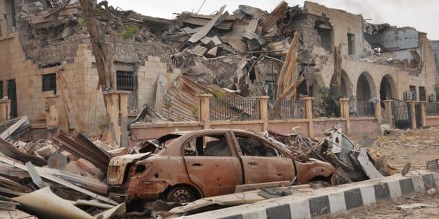 Photo prise après les combats à Deir Ezzor le 5 novembre dernier.