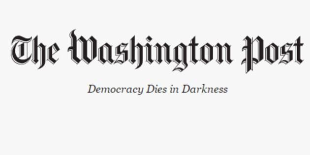 Le nouveau slogan qui apparaît sur le site internet du Washington Post